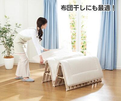 【直送】桐四つ折すのこベッドシングルベッドすのこひのきロールベッドすのこベッド寝具家具※メーカー直送につき。離島、沖縄配達商品。