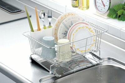 【ポイント2倍】水が流れるステンレス製水切りキッチン用品キッチン水切り台所用品収納収納ラック便利グッズキャビネット