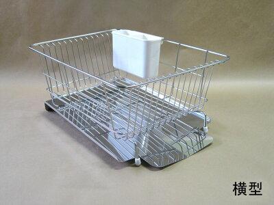 【ポイント2倍】水が流れるステンレス製水切りキッチン用品キッチン水切り台所用品収納収納ラック便利グッズキャビネットP12Sep14