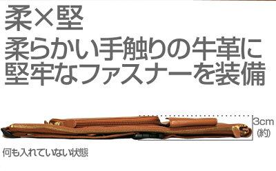 牛革薄型ウエストバッグ【新聞掲載】