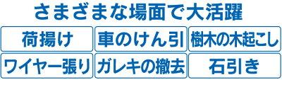 1.5t対応ハイパワー手動ウィンチ【カタログ掲載1503】