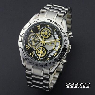 サルバトーレマーラメンズクロノグラフメカニカルウオッチSM13108時計メンズメンズ腕時計メンズウォッチファッションサルバトーレマーラ