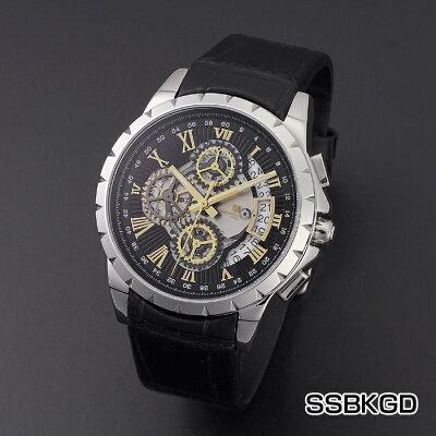 サルバトーレマーラクロノグラフメカニカルレザーウオッチSM13119S時計メンズメンズ腕時計メンズウォッチファッションサルバトーレマーラ