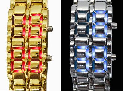 LEDブレスウォッチ【新聞掲載】ブレスレット腕時計時計オシャレ近未来SFメンズ男性LEDブレスウォッチかっこいいプレゼント個性クォーツ式ケースプレゼントおもちゃデジタル人気ロック