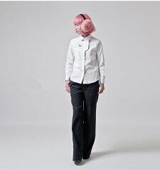 アーバンデザインシャツ長袖胸元切り替えし白黒デザイン台湾レディースファッションアジアナイロンNYLON原宿装苑TOKYO東京