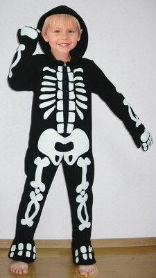 ハロウィン早割・先得キャンペーン! コスチューム/仮装衣装フリーススケルトン/Fleece Skeleton...
