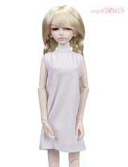 SD40cm用ウィッグ★ロングおさげちゃんスタイル!緩く編んだ三つ編みとくりんとした毛先が女の...