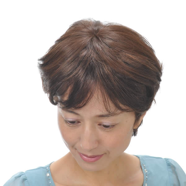 ヘアピース部分ウィッグポイントウィッグ増毛総手植えつむじカバーTK-9【楽ギフ_包装】P25Jun15
