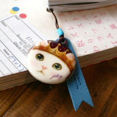 【メール便送料無料】【choochoo本舗】猫の携帯ストラップ リトルプリンス (MO001)1