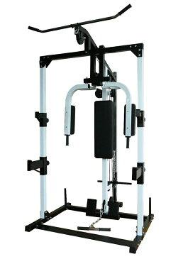 マルチステーション 本体のみ[WILD FIT ワイルドフィット] 送料無料 筋トレ トレーニングマシン 胸筋 背筋 腹筋 レッグ スクワット