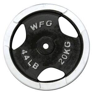 白ラバープレート20kg[WILD FIT ワイルドフィット] ダンベル バーベル ウエイト 筋トレ トレー...