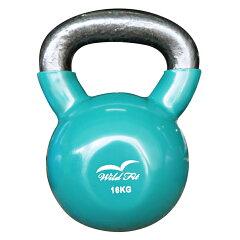 カラーケトルベル16kg 緑[WILD FIT ワイルドフィット] 送料無料 ウエイト トレーニング ダンベル 筋トレ 握力