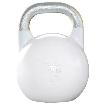 JKA公認ケトルベル 40kg ホワイト[WILD FIT ワイルドフィット] 送料無料 ウエイト トレーニング ダンベル 筋トレ 握力