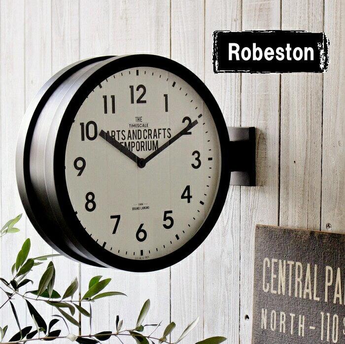 掛け時計 おしゃれ 両面時計 壁掛け時計 置き時計 ダブルフェイス ツーフェイス ウォールクロック ブルックリン 男前 シンプル スイーブムーブメント レトロ インテリア
