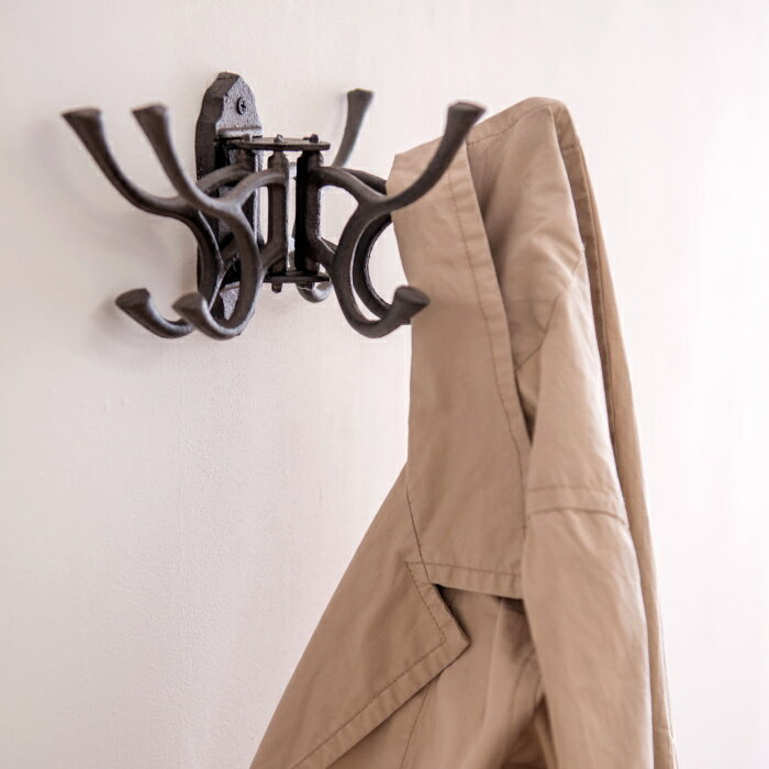 フック壁掛けおしゃれアンティークアイアンフックウォールフック壁掛け収納洋服コートディスプレイオブジェウォールデコレーション