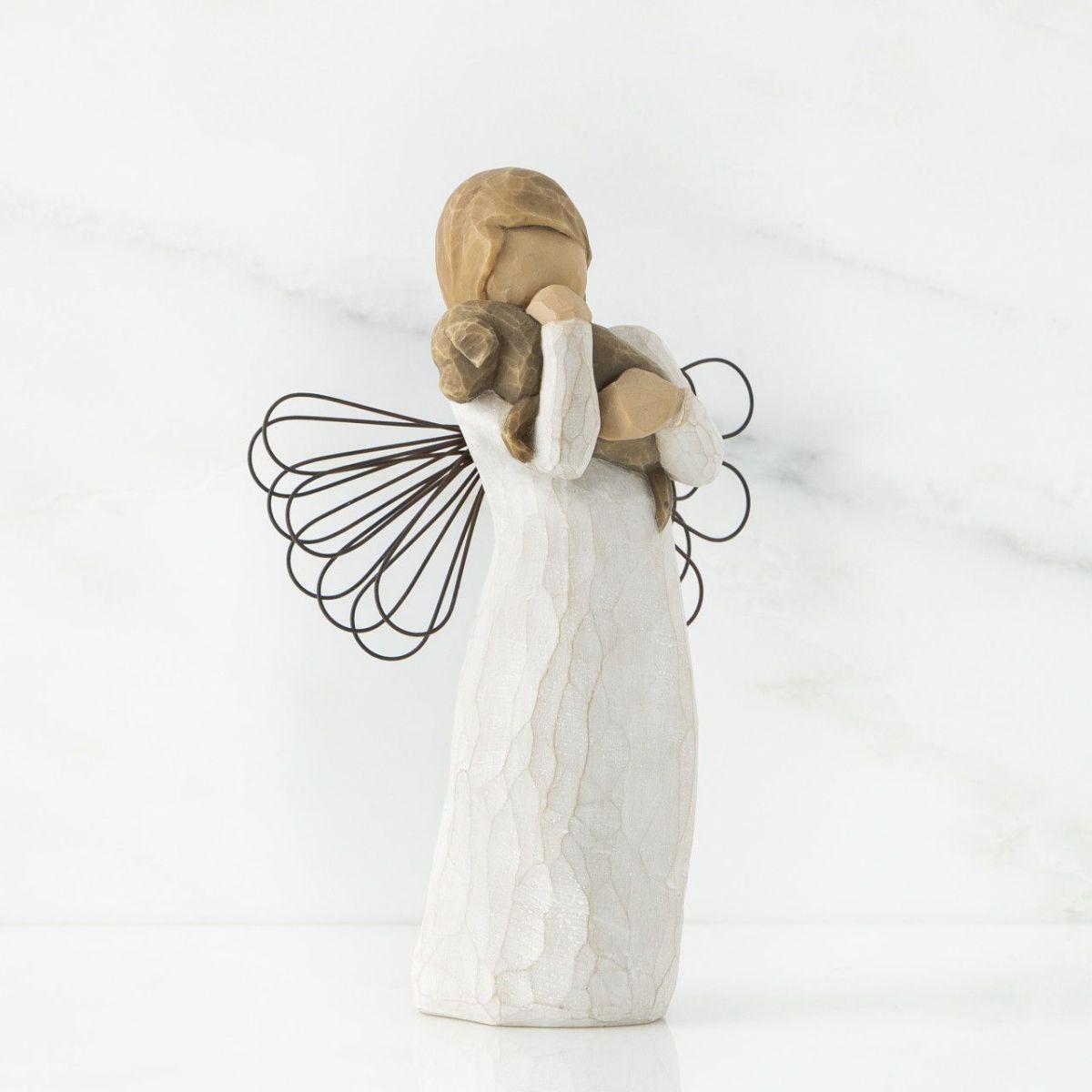 ウィローツリー天使像 友情 犬 おしゃれでかわいい天使の置物 オブジェ 彫刻 フィギュリン 人形 インテリア雑貨 Willow Tree Angel of Friendship 正規輸入品