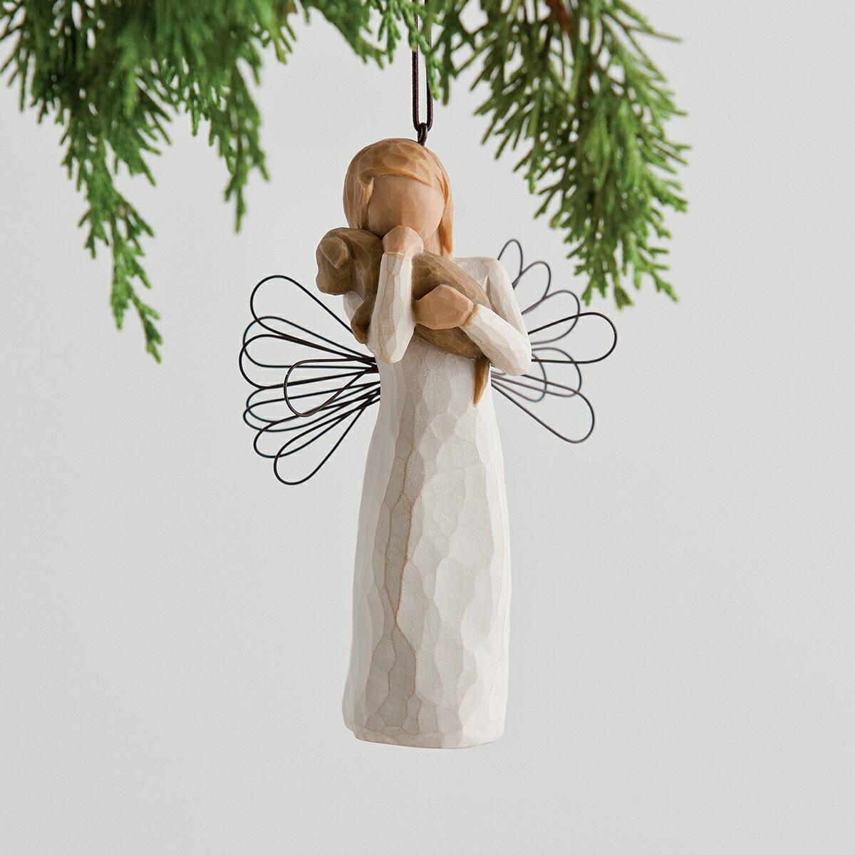 ウィローツリーオーナメント 友情 犬 おしゃれでかわいい置物 オブジェ 彫刻 フィギュリン 人形 インテリア雑貨 Willow Tree Angel of Friendship 正規輸入品