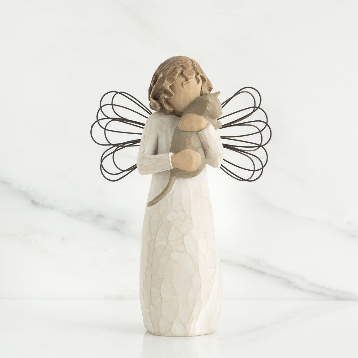 ウィローツリー天使像 愛情を込めて | 猫 おしゃれな天使の置物 大人向け フィギュア 人形 インテリア雑貨 Willow Tree With Affection 正規輸入品