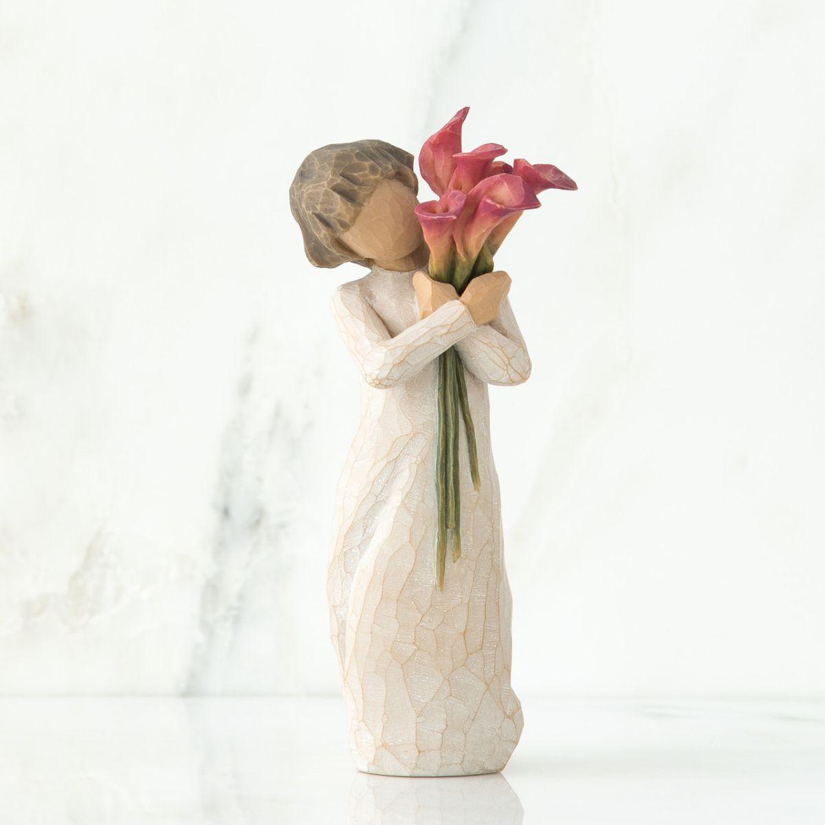 ウィローツリー彫像 花盛り | 花 花束 赤 カラー おしゃれな置物 大人向け フィギュア 人形 インテリア雑貨 Willow Tree Bloom 正規輸入品