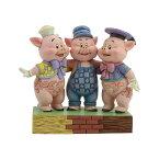 クリスマス プレゼント 3匹のこぶた 6.1cm | ディズニー フィギュア 大人向け 人形 置物 ジムショア グッズ Three Little Pigs ジム・ショア ディズニー トラディションズ JIM SHOREJIM SHORE DISNEY TRADITIONS 正規輸入品
