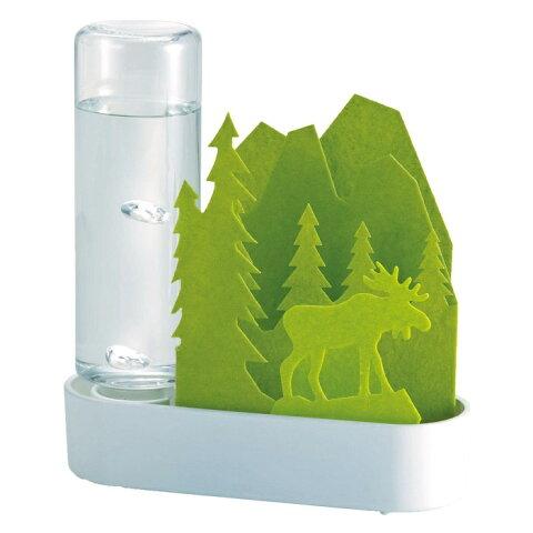 4667【宅配送料込】積水樹脂 自然気化式 加湿器「うるおいアニマル ちいさな森」エルク‐グリーン ULT-EL-GR セキスイ