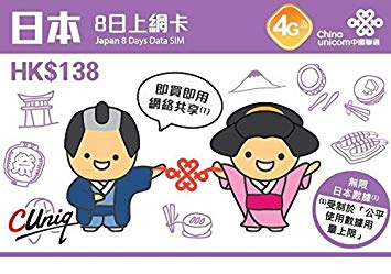 5355【SIMカード】日本8日間データ+香港通話SIMカード【開通期限:2020/6/30】