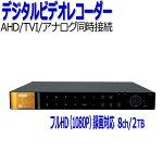 防犯カメラレコーダーAHD対応8chNSSNSD5008AHD-H