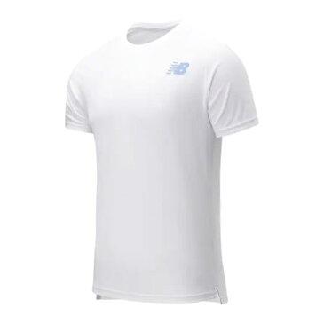 ニューバランス ラリークルーショートスリーブTシャツ(MT11411-WT)[new balance MS メンズテニスウエア]
