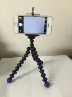 くねくね三脚 スマホ用三脚 デジカメ デジタルカメラ 三脚 iphone スタンド ホルダー iphone6s/6 plus 卓上ホルダー スマートフォン 汎用ホルダー付 メール便 送料無料