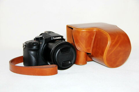 panasonic lumix DMC-FZ1000 ケース FZ1000 カメラケース カメラバック バック カバー レザーケース 一眼 一眼レフ デジカメ 合成革 パナソニック 三脚使用可能 三脚用ネジ 穴装備 ストラップ 送料無料