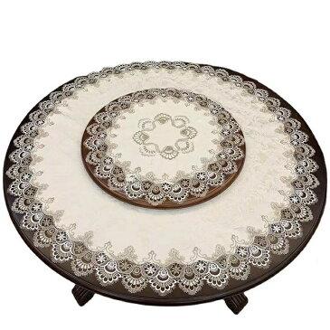 テーブルクロス レース 円形 直径約90cm 送料無料 おしゃれ かわいい ランチマット テーブルマット ラウンドクロス 食卓 マット 花 敷物 雑貨 食卓 水洗い可 北欧 オフホワイト