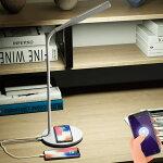 デスクライトQiワイヤレス充電目に優しいテーブルランプ1台2役3階段調色スマホで遠隔操作
