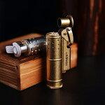 オイルライター着火石付きレトロトレンチライター収納ボックス付きプレゼント(オイル無し)