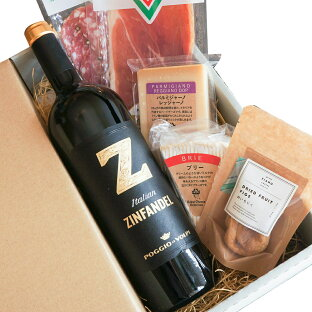 チーズ クリスマス ワインセット ギフト Zジンファンデル 詰め合わせ プレゼント おつまみ 赤ワイン チーズ ワイン パルミジャーノ ブリー 食べ比べ 美味しい ワイン好き 晩酌 酒のつまみ 酒の肴 お取り寄せグルメ 誕生日 内祝い プチギフトの画像