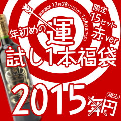 福袋 赤ワイン運だめしワイン福袋 2015 大当たりは1万円相当の赤ワイン!赤ワイン1本 福袋 福...