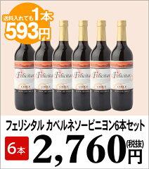 赤ワイン6本 1本あたり593円