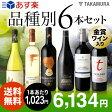 【送料無料】【第25弾】知ればもっと、ワインの楽しみ広がる♪代表的なブドウ品種を飲み比べ!白2赤4本 ワインセット(追加6本同梱可)(代引き・クール便別途)[T][P][H]