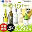 【送料無料】【第18弾】1本あたり1059円でこの充実度!金賞白ワインも入ってる!!厳選5本!白ワインセット(追加7本同梱可)(代引き・クール便別途)[T][P][H]