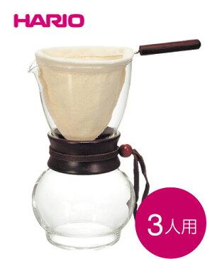 ハリオ(HARIO) ドリップポット ウッドネッ 480ml (ネルドリップ)3〜4杯用(DPW-3)(ワイン(=750ml)11本と同梱可)