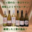 ラグビー応援 白・辛口ワイン 6本  オーストラリア・アメリカ・イタリア・南アフリカ・ニュージーランド・フランス 6ヶ国のラグビー有名国飲み比べ【モトックス】【750ml】【白 辛口】