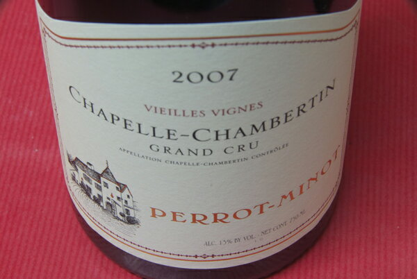 Domaine Pero tripe and Chapelle-Chambertin vieilles Vignes [2007]