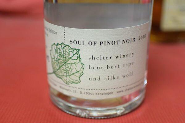 375 ml of shelter winery / Seoul of Pinot Noir [2008]