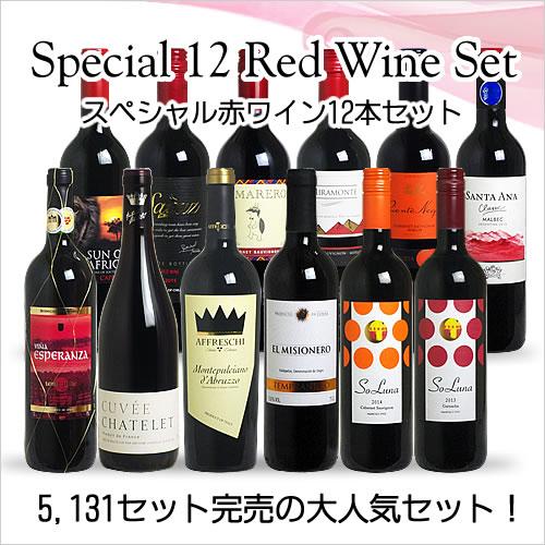 <第57弾> スペシャル赤ワイン12本セット(赤12本) ※同梱不可 【あす楽対応_関...