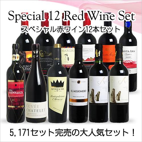 <第58弾> スペシャル赤ワイン12本セット(赤12本) ※同梱不可 【あす楽対応_関...
