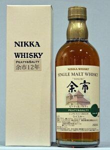 NIKKA ニッカ シングルモルト余市 ピーティー&ソルティー12年500ml アルコール55% 限定...