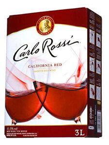 【8本ご購入で送料無料】カルロ・ロッシ・カリフォルニア・レッド・3,000ml・バッグ・イン・ボックス・ワイン(業務店向け大型サイズ)・辛口・E&J・ガロ・ワイナリー(8本で送料無料)Carlo Rossi California Red B.I.B (Box Wine) Gallo Winery