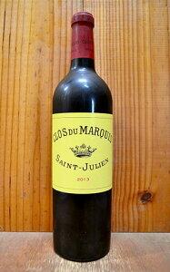 クロ デュ マルキ 2013 AOCサン ジュリアン メドック グラン クリュ クラッセ 公式格付第二級 レオヴィル ラスカーズ (ドゥロン家) シャトー元詰 赤ワイン ワイン 辛口 フルボディ 750mlCLOS DU MARQUIS 2013