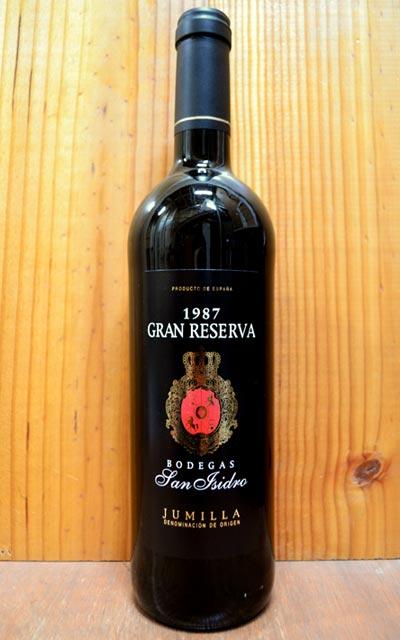 ワイン, 赤ワイン  1987 750mlBodegas San Isidro Gran Reserva 1987 D.O Jumilla