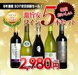 8年連続 SHOP OF THE YEAR 2015 受賞感謝セール!!毎日おいしい激旨安ワイン5本セット