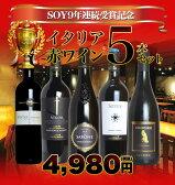 SOY9年連続受賞記念 高級イタリア赤ワイン5本セットUKIUKI SET OF SHOP OF THE YEAR